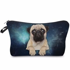 Handbags - Adorable Pug in Space Cosmetics Bag NWT